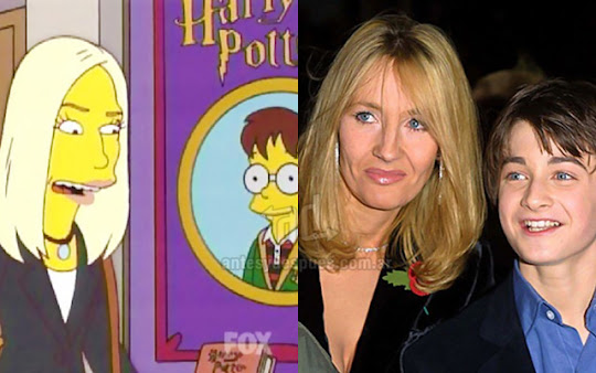Jk Rowling Harry Potter simpsons artis+kartun Tokoh tokoh selebriti dalam serial kartun The Simpson