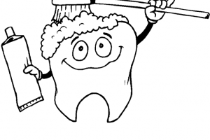 printable dental hygiene coloring pages 300x200