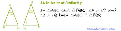 CBSE Class 10 Maths CH6 Triangles (Important Points You must Know) - AA Criterion