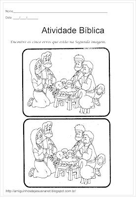 O nascimento de Jesus - Atividade dos 5 erros