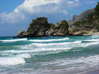 Spiaggia di Kontogialos   Naftif Taverna Pelekas Corfu