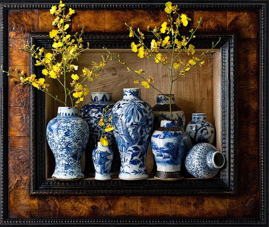 pinturas-jarrones-flores-y-frutas