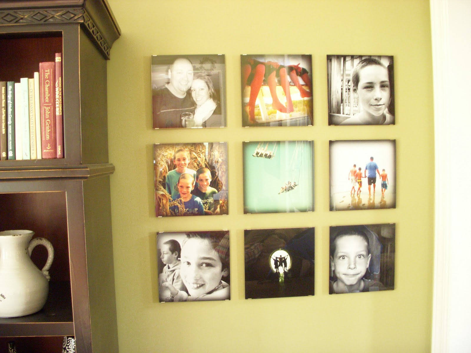 Wall Photo Collage. Photo Canvas. Creative Family Wall Ideas 4 Show ...