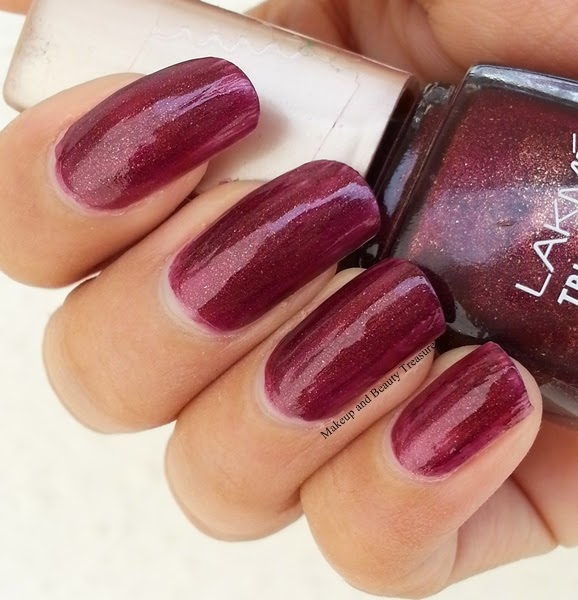 Makeup and Beauty Treasure: Lakme True Wear Nail Polish in Berry ...