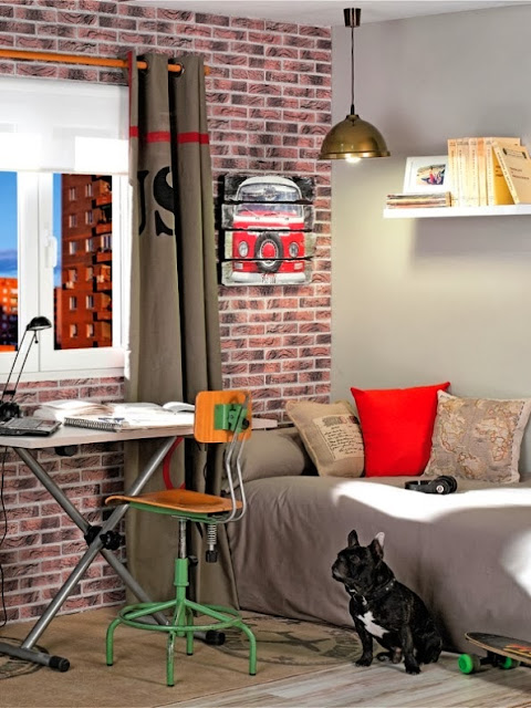 habitación estilo industrial de leroy merlin