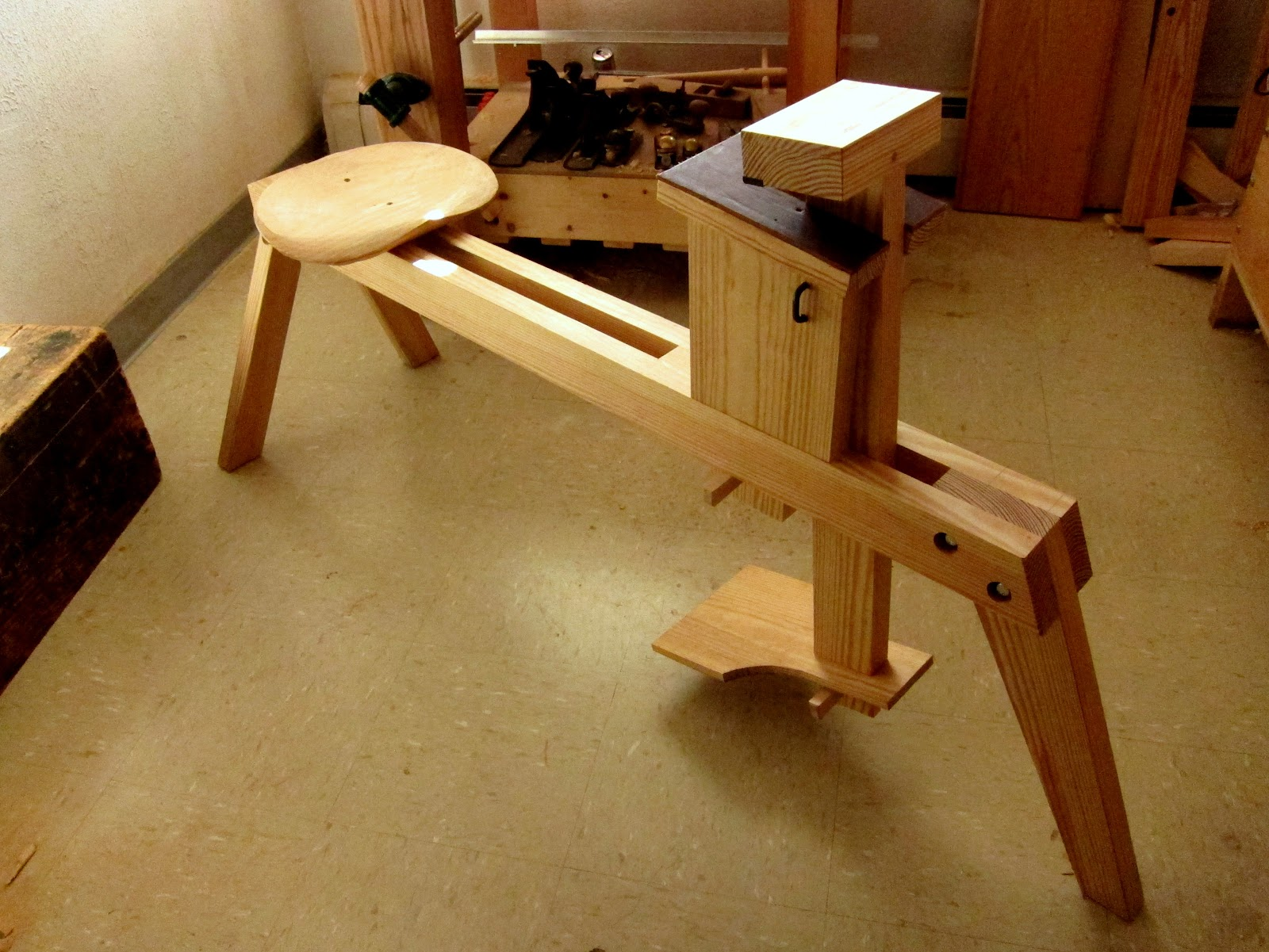 Tim Manney Chairmaker Shaving Horse The Business End