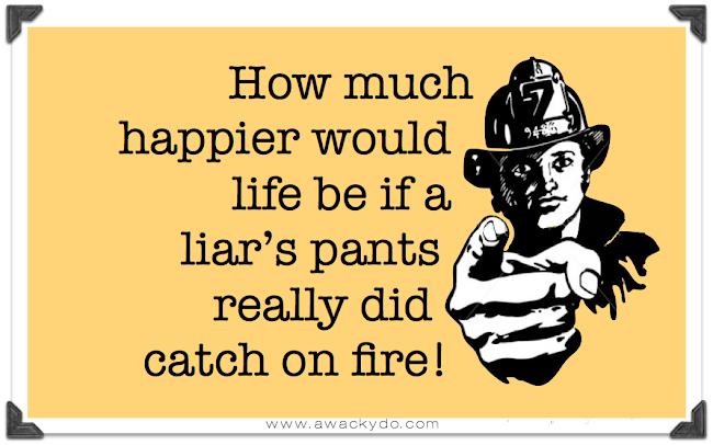 liar liar pants on fire, hanging on a telephone wire, hanging from a telephone wire, funny card, dry humor