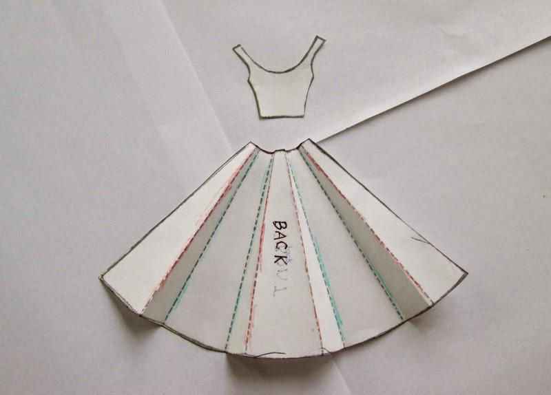 Выкройка платья на открытку 90