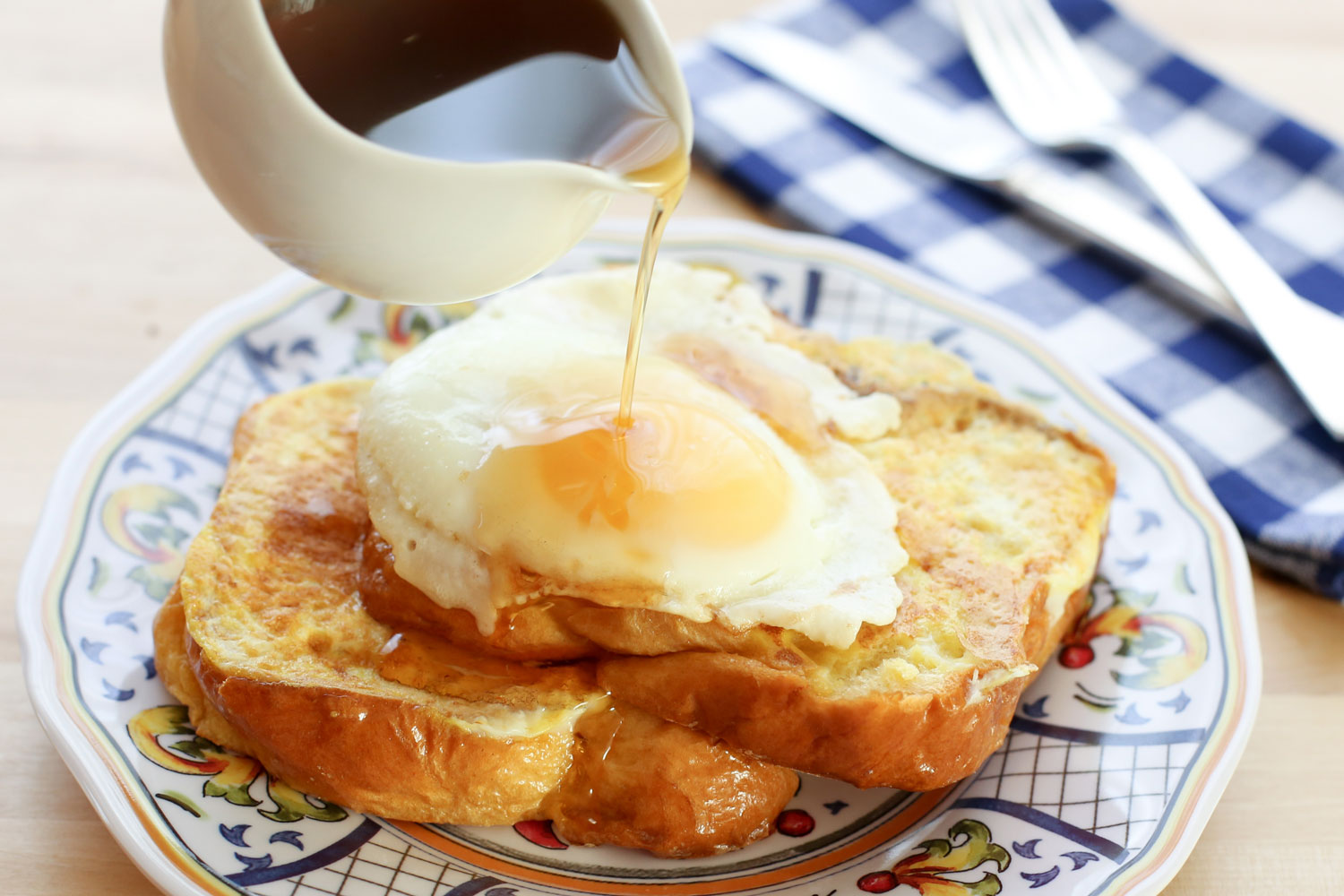 Brioche French Toast with Tabasco Maple Syrup recipe by Barefeet In The Kitchen