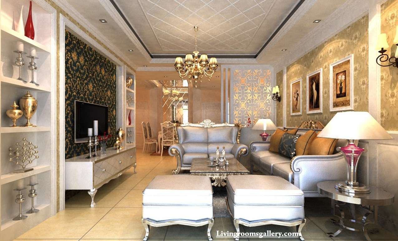 Modern False Ceiling Designs Made Of Gypsum Board For Living Room - Living room false ceiling designs pictures