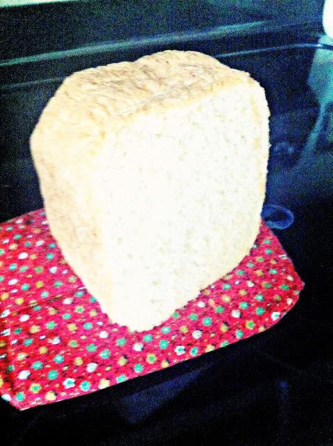 white bread in a block