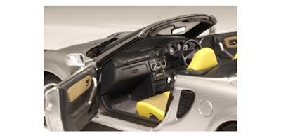 Marks Diecast AutoArt 78716 2000 Toyota MR2 Spyder Silver Right Hand Drive