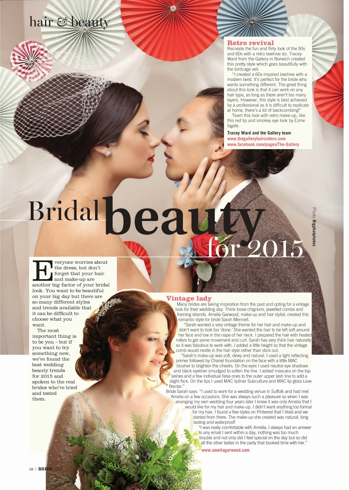 Bridal beauty feature, Bride magazine