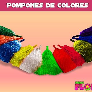 Como hacer Pompones de Colores | Manualidades paso a paso