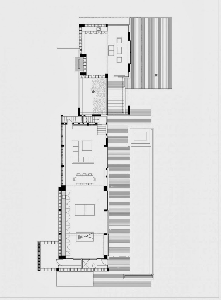 Basement floor plan of Modern dream home by Paz Arquitectura