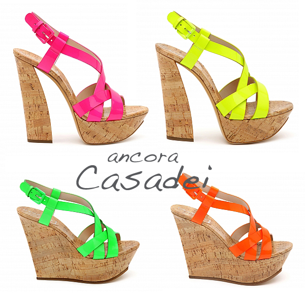 Casadei fluo shoes on www.designandfashionrecipes.com