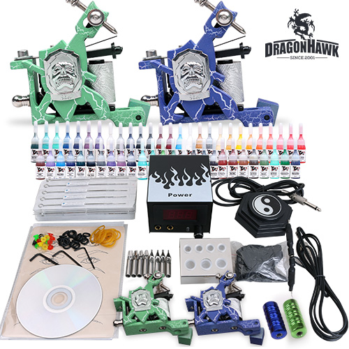 Tattoo supplies tattoo starter kit 2 machine guns 54 for Best tattoo starter kit