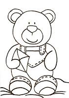 """""""desenho de ursinho com pipa"""""""