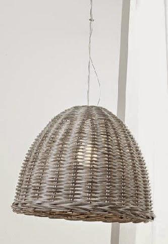 lampara de techo en mimbre
