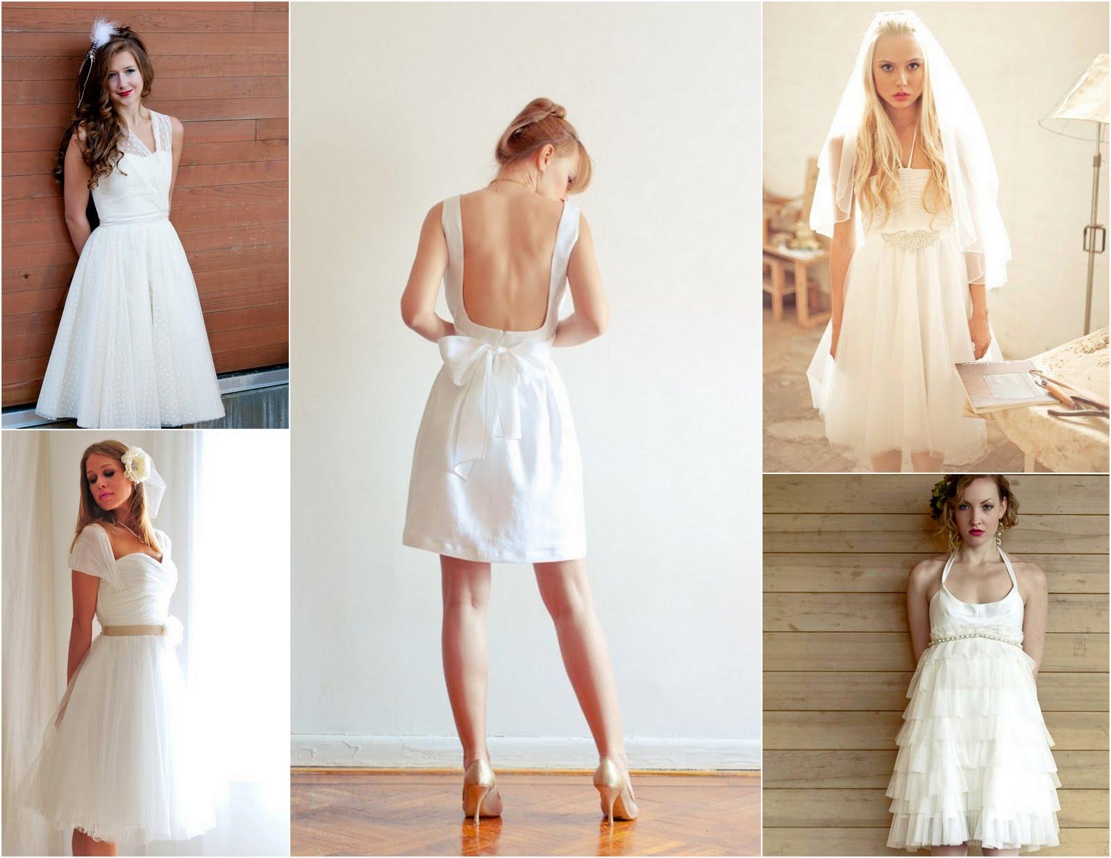 Wedding dresses: white linen wedding dresses