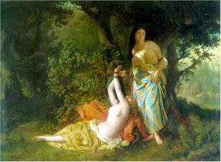 Las hijas del Cid, doña Elvira y doña Sol, según el pintor Dióscoro Puebla