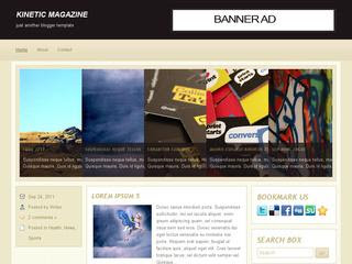 Kinetic Magazine Blogger Template