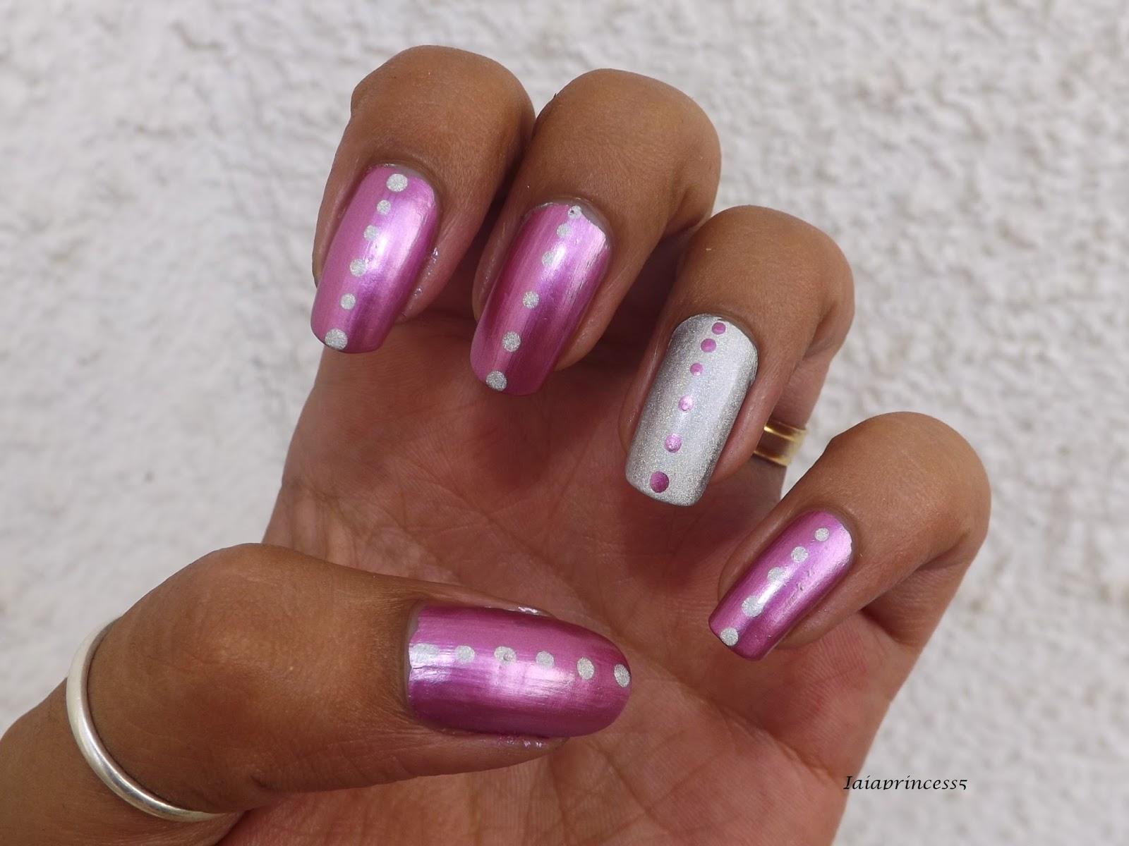 Iaiaprincess5 nail art cosmesi moda nail art semplice e veloce - Smalto effetto specchio ...
