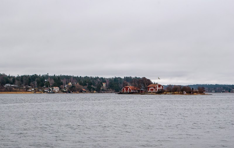 scenery of Vaxholm swedish archipelago