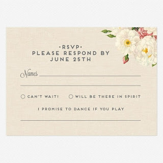 Song Request Wedding Invitation