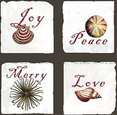 Christmas holiday coasters
