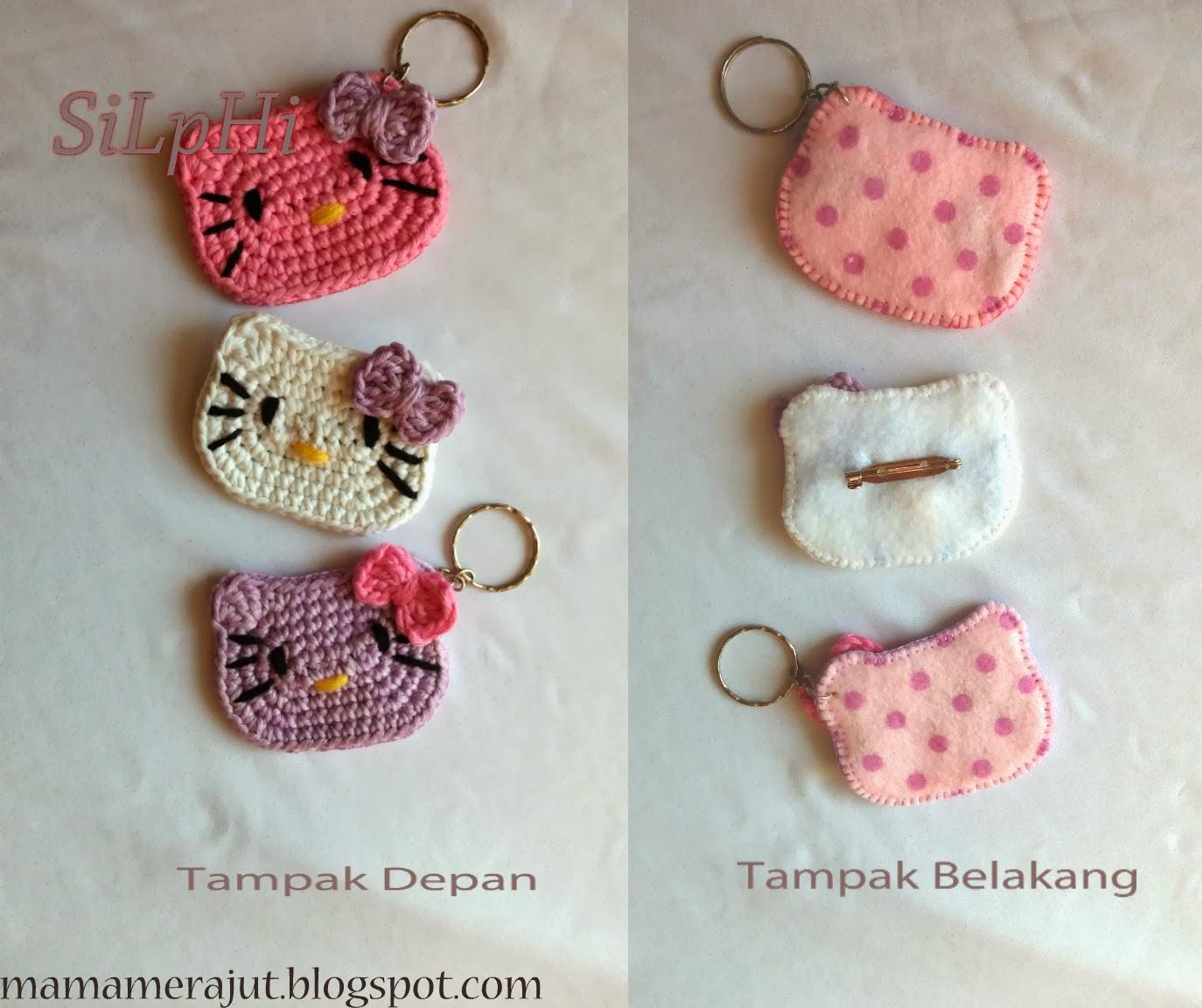 Mama Merajut: Crochet Hello Kitty Brooch and Keychain
