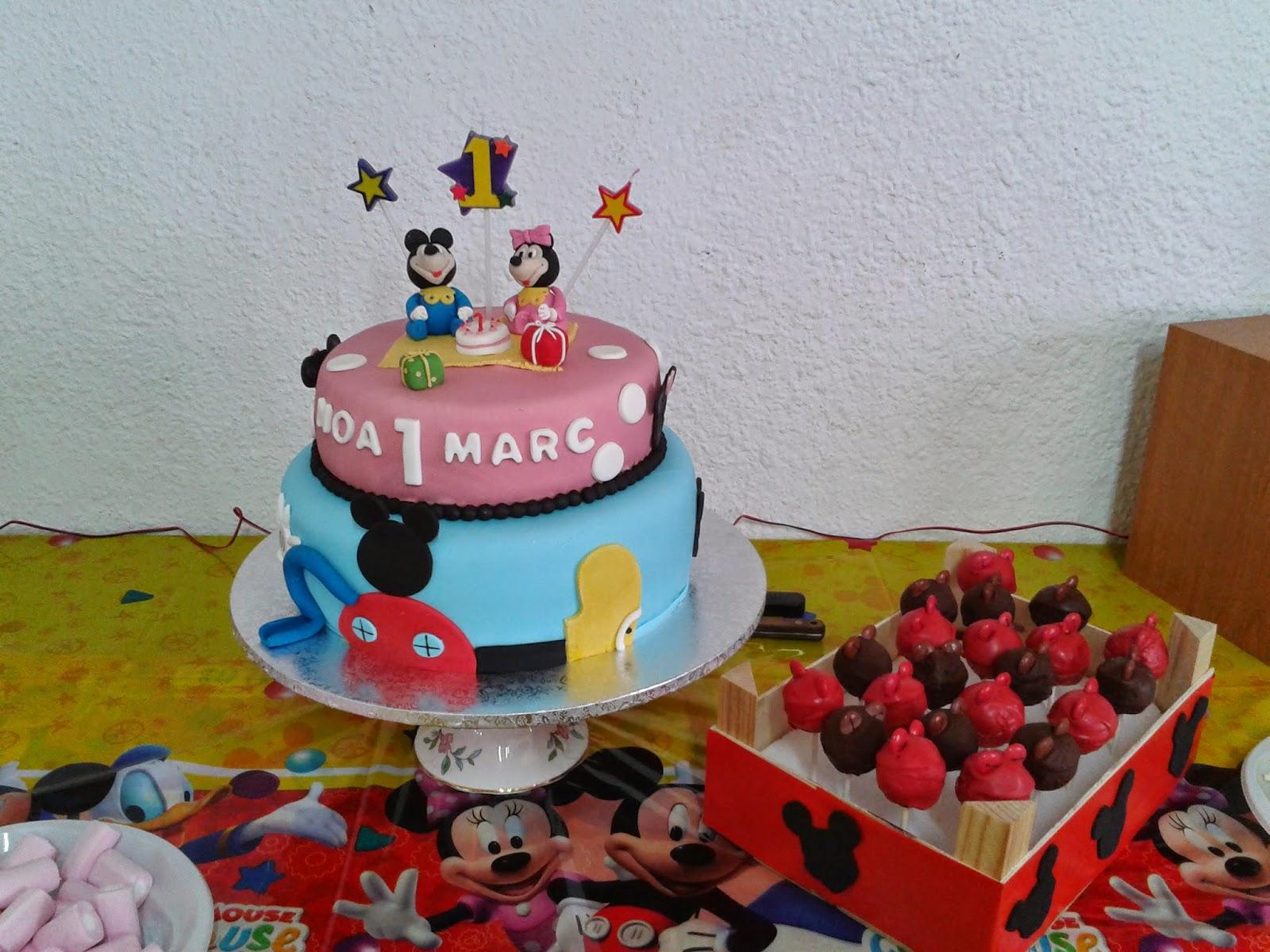Cupcakes tenerife tarta mickey y minnie - Cupcakes tenerife ...