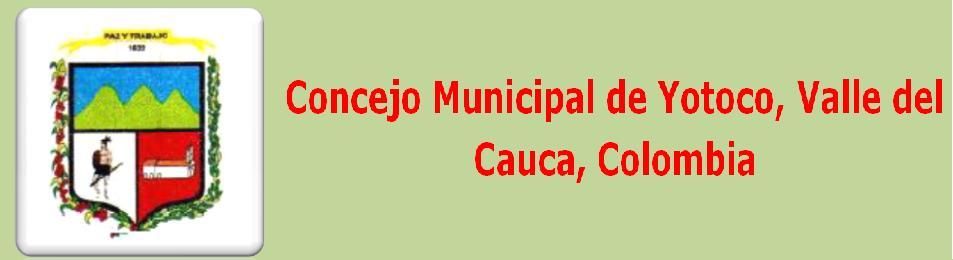 Concejo Municipal de Yotoco, Valle del Cauca, Colombia