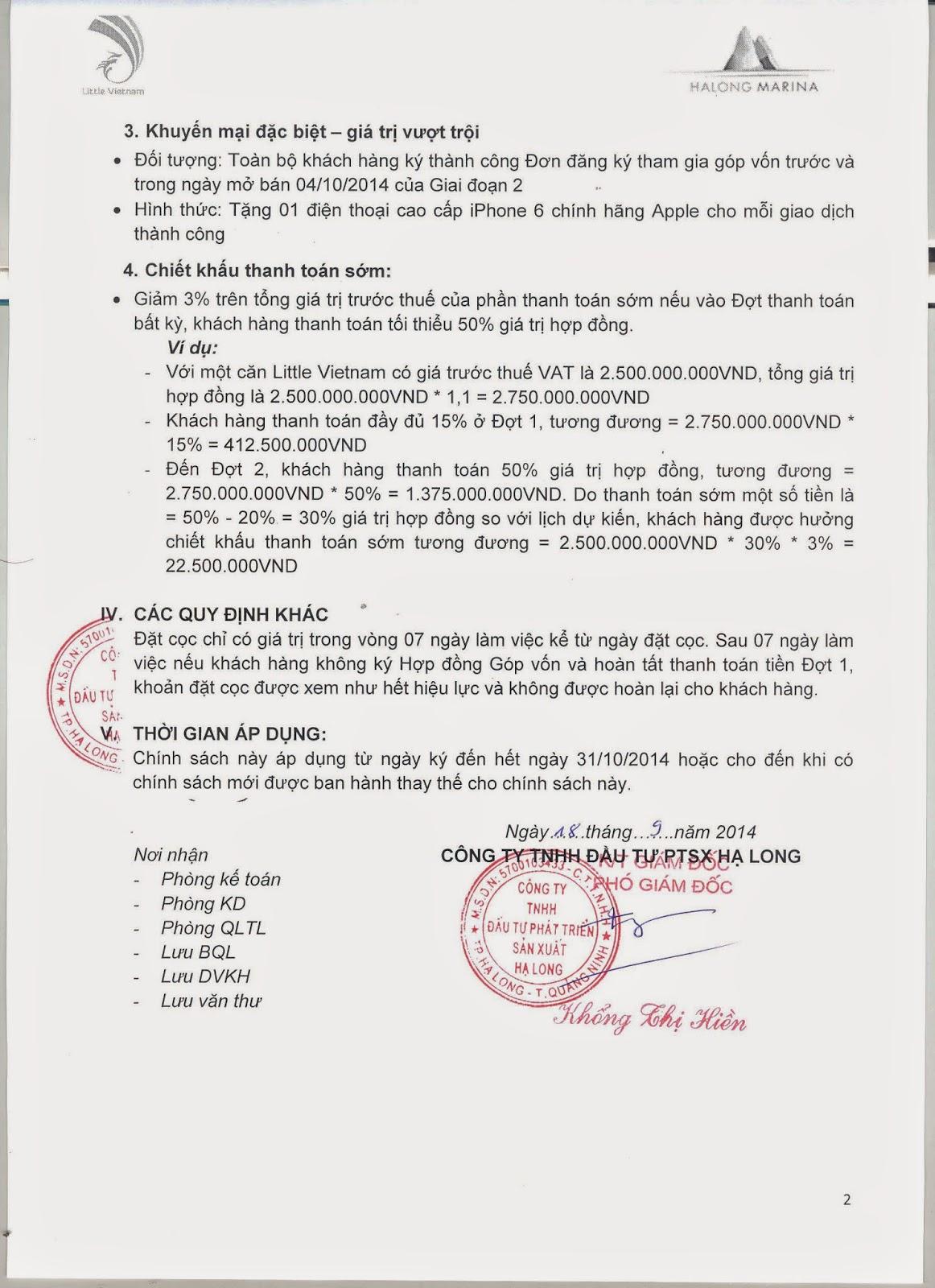 Chính Sách Bán Little Việt Nam