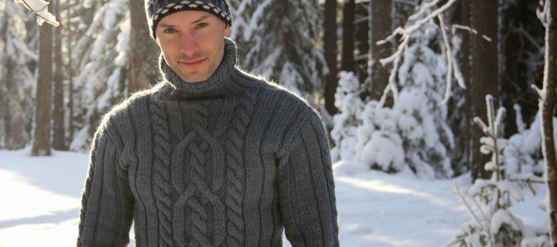 Вязание свитер для рыбака 67