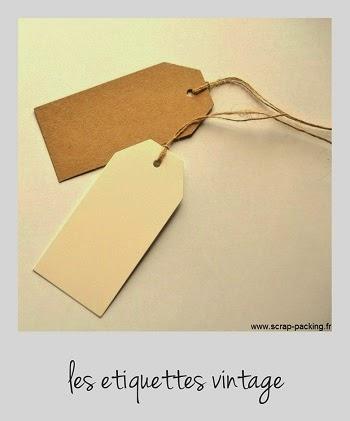 Etiquette en carton kraft