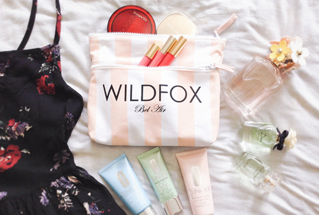 Wildfox Bel Air Canvas Bikini Bag fashion blog travel blogger style blog