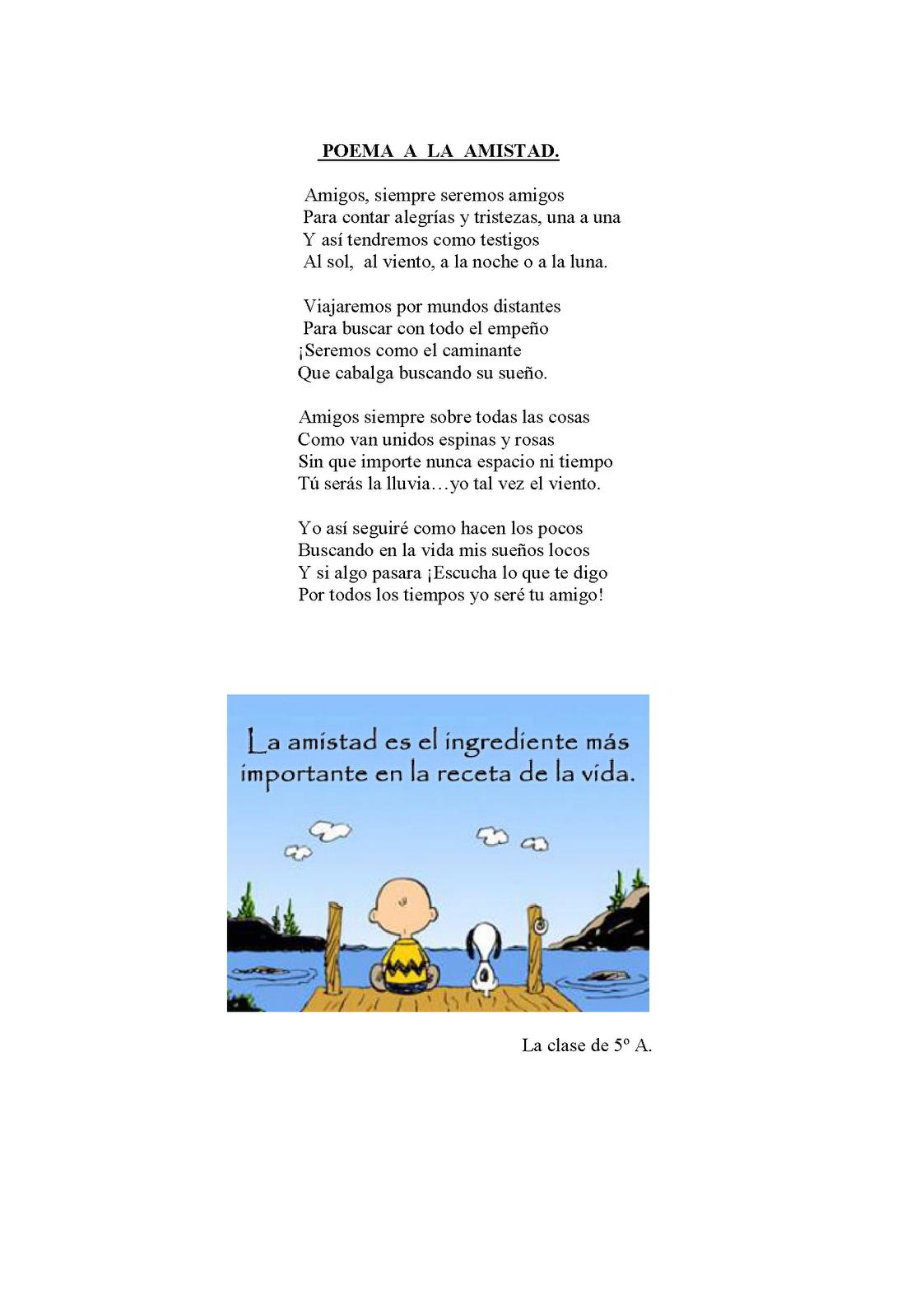 Poemas De Amistad Con Rimas Para Ninos | newhairstylesformen2014.com