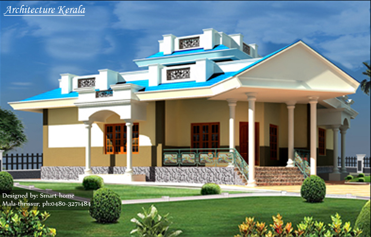 The gallery for kerala house elevation for Kerala new home pictures