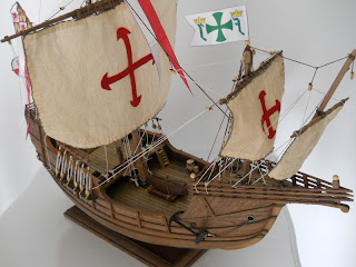 static model of the nao Santa María s.XV
