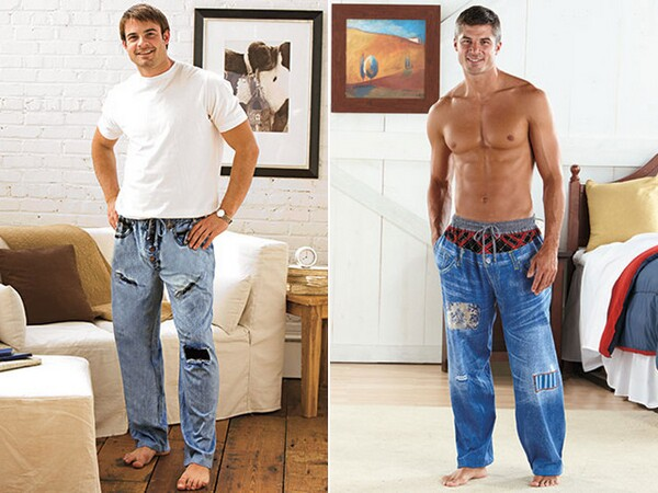 Printed Pajama Jeans For Men