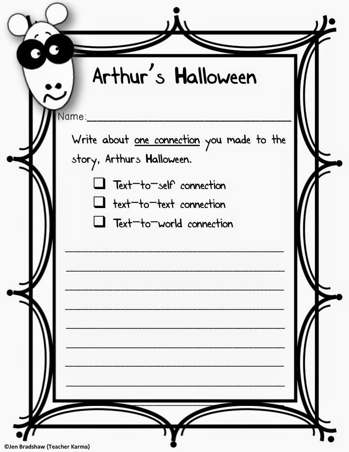 FREE Arthur's Halloween printables  TeacherKarma.com