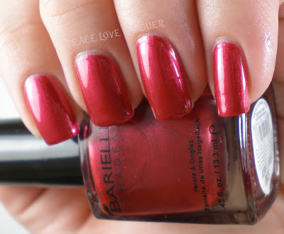 Barielle, Lindsay's Dancin, Lindsays Dancin, Metallic, Red, Nail Polish