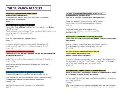 Salvation Bracelet Meaning
