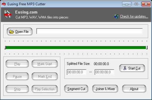 MP3 剪輯軟體推薦:Eusing Free MP3 Cutter Portable 免安裝版下載