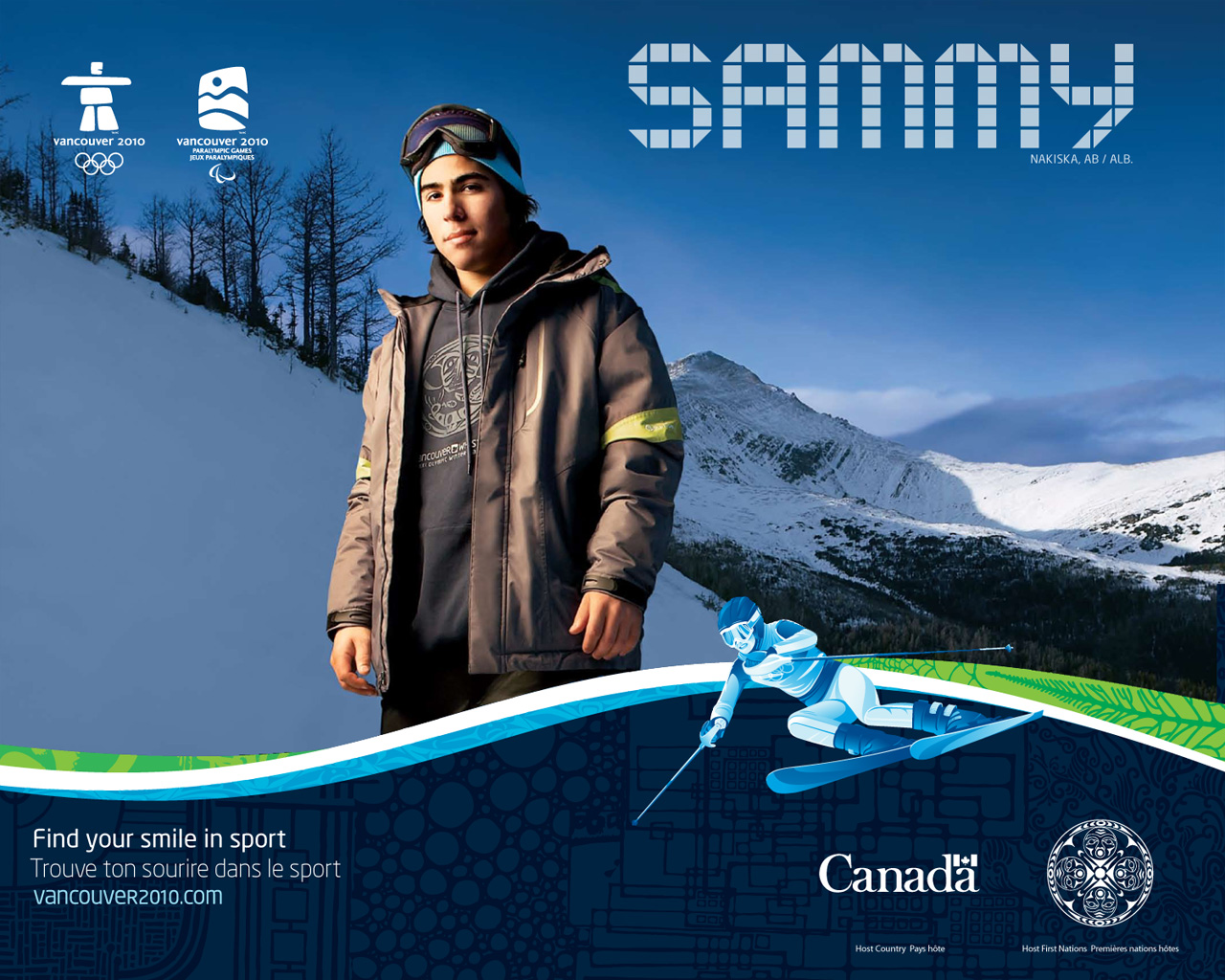 Free Vancouver 2010 Olympic Winter Games PowerPoint Background 12