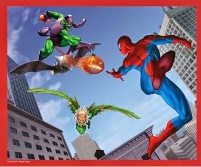 Coloriage spiderman contre bouffon vert coloriage en ligne - Bouffon vert coloriage ...