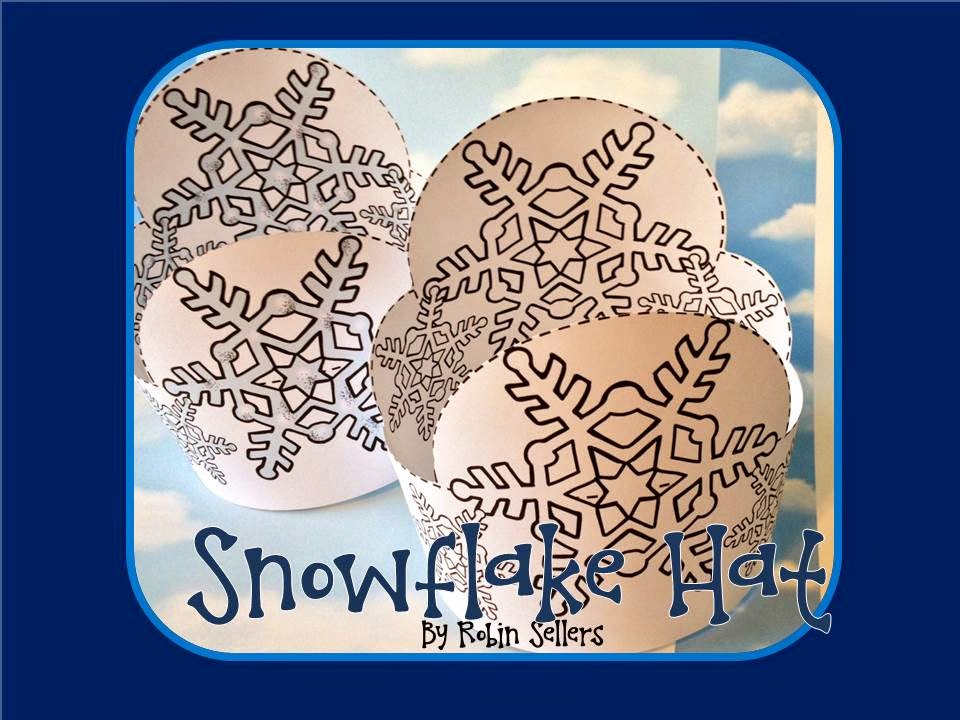 printable snowflake hat