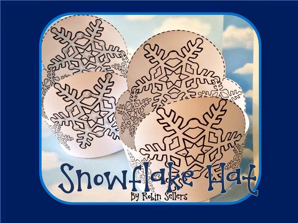printable snowflake hat