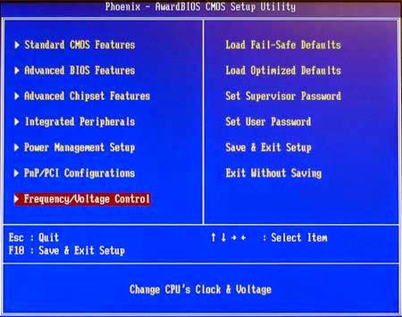 Tipe BIOS AWARD BIOS